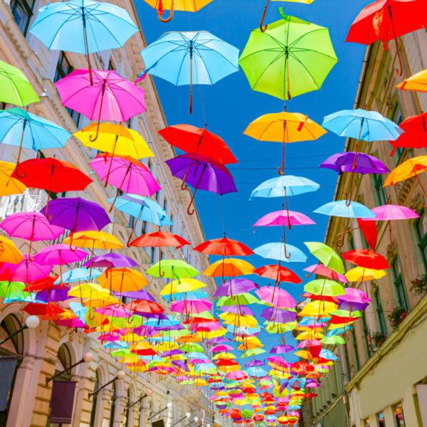 Ciel de parapluies